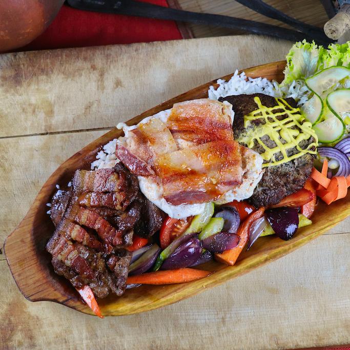Egyszemélyes grill tál